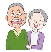 笑顔のステキな老夫婦