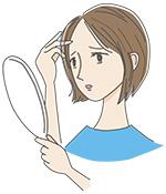 髪のコシ・つやがなくなってきたと悩む女性